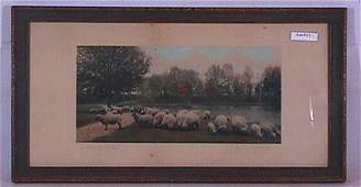 111: Wallace Nutting - A Warm Spring Day - Sheep