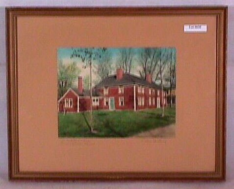 630: Wallace Nutting - Old Red House, Framingham Mass