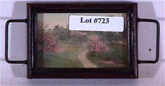 723: Wallace Nutting - Exterior in Miniature Pin Tray