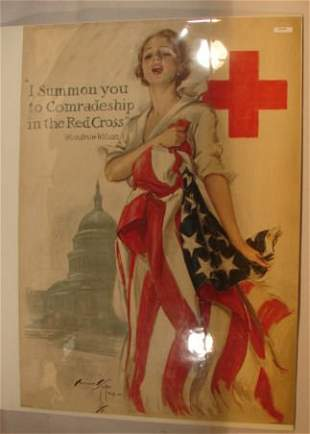 Harrison Fisher - 1918 Red Cross Poster