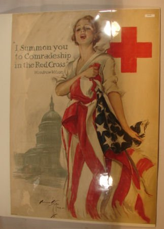 1: Harrison Fisher - 1918 Red Cross Poster