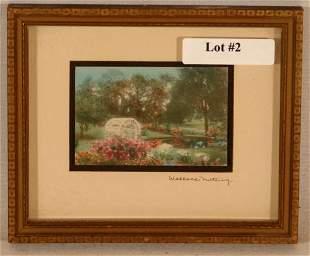 Wallace Nutting - Miniature Garden Scene