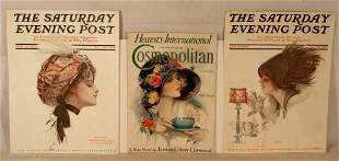 Harrison Fisher - Lot of 5 Magazine Covers
