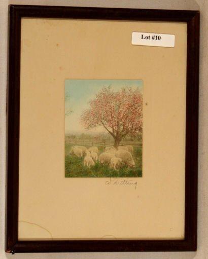 10: Wallace Nutting - Untitled Sheep Scene