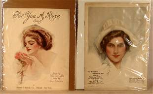 Harrison Fisher - Lot of 4 Original Prints