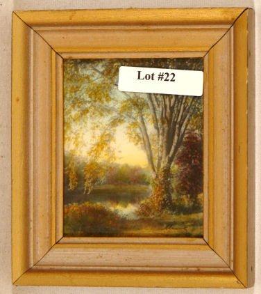 22: Wallace Nutting - Miniature Exterior Scene