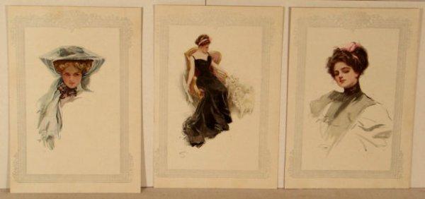 23: Harrison Fisher - Lot of 6 Original Bookplate Print