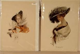 Harrison Fisher - Lot of 4 Original Bookplate Print