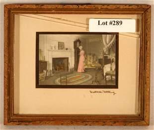 Wallace Nutting - Miniature Interior Scene