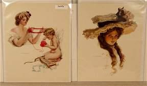 76 Harrison Fisher  Lot of 4 Original Bookplate Print