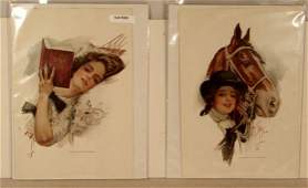 101 Harrison Fisher  Lot of 4 Original Bookplate Prin