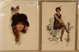 119 Harrison Fisher  Lot of 4 Original Bookplate Prin