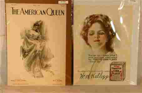226: Harrison Fisher - Lot of 4 Original Ads & Covers