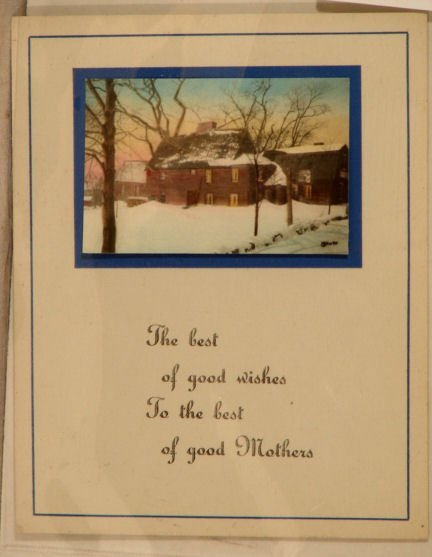 519: Wallace Nutting - Mother's Day Card Snow Scene