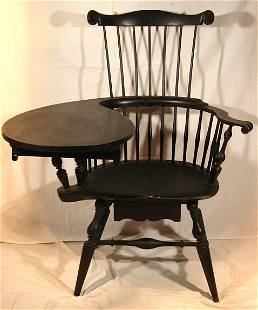 650: Wallace Nutting -#432 Writing Arm Windsor Chair