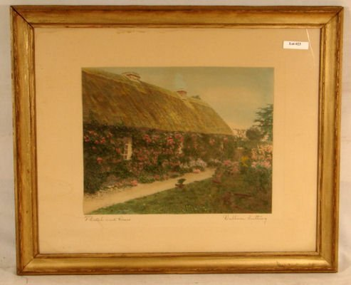 23: Wallace Nutting - Thatch and Roses