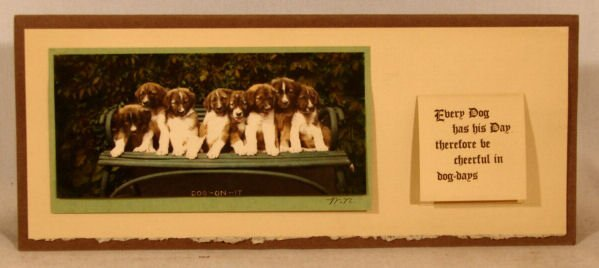200: Wallace Nutting - Dog-On-It Calendar - RARE