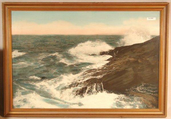 462: Wallace Nutting - Swirling Seas - SEASCAPE