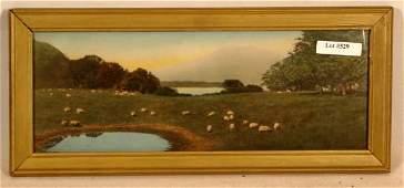 529: Wallace Nutting - Close-framed Sheep Scene