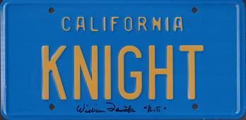 William Daniels license plate