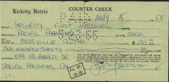 Jerry Lewis check