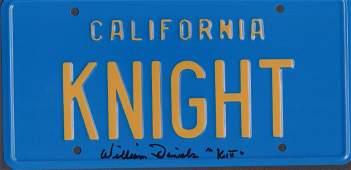 KITT Knight Rider License tag