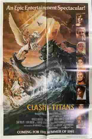 Clash of the Titans Movie Poster signed