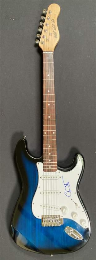 Carlos Santana signed strat style electric guitar