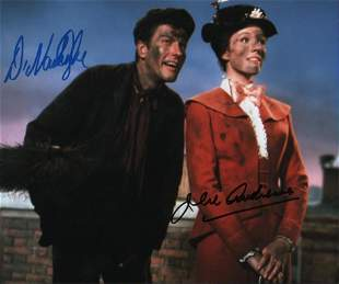 Mary Poppins signed 8x10