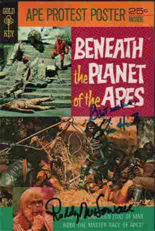 Beneath the Planet of the Apes comic book signed