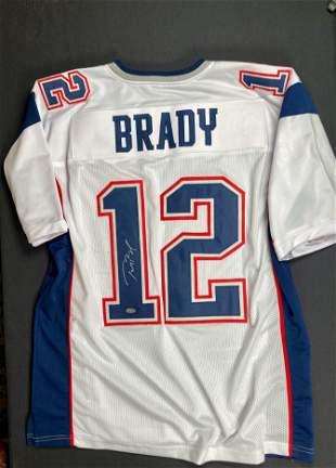 Tom Brady White Super Bowl jersey signed