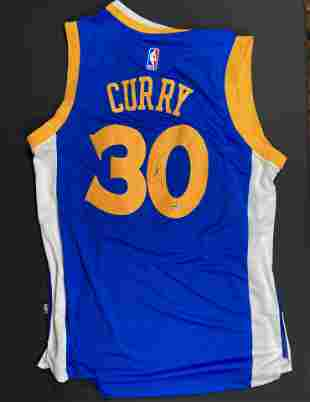 Stephen Curry Steiner signed jersey