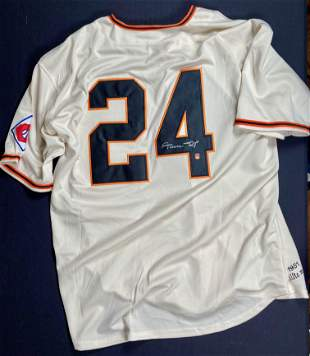 Willie Mays jersey signed