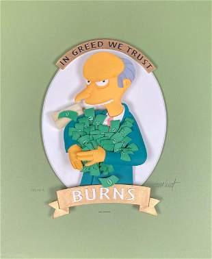 MR Burns IN Greed We Trust Simpsons sculpture
