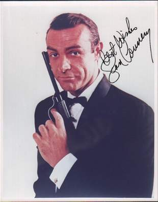 Sean Connery James Bond signed photograph