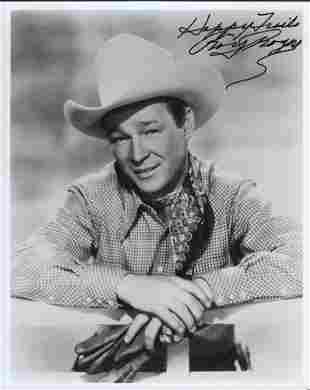 Roy Rogers signed western 8x10 photograph