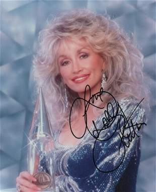 Dolly Parton signed photograph