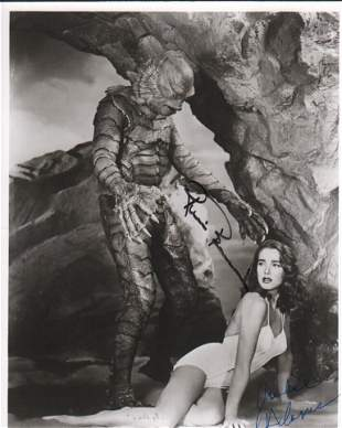 Creature of the Black Lagoon cast signed photograph