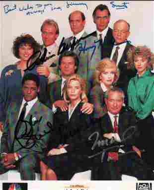 LA LAW cast signed photograph