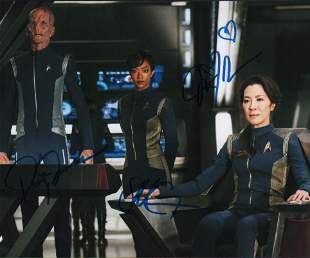 Star Trek Discovery cast signed photograph