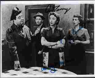 Honeymooners cast signed photograph