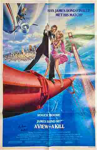 A View to a Kill one sheet movie poster signed by Roger