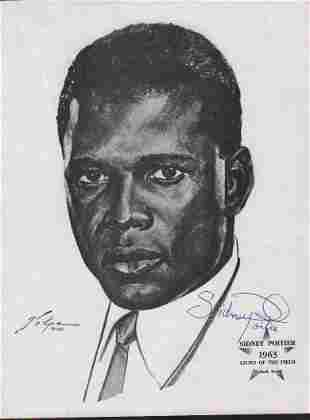 Sidney Poitier Volpe print signed