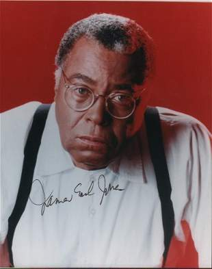 James Earl Jones signed photograph
