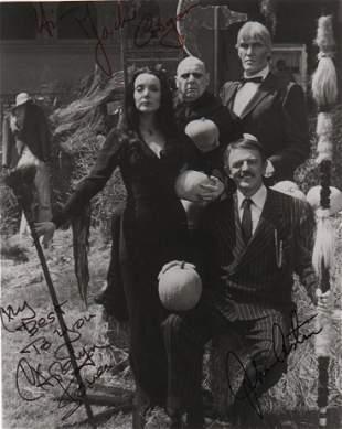 Addam's Family rare cast signed photograph