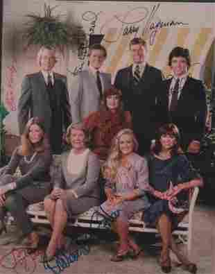 Dallas TV cast signed photograph