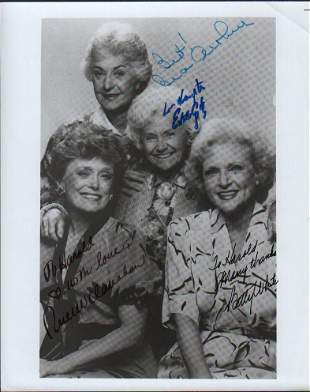 Golden Girls cast signed photograph