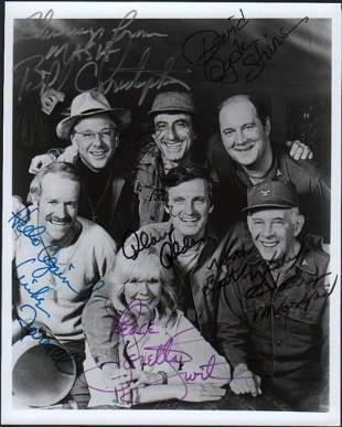 MASH rare complete cast signed photograph