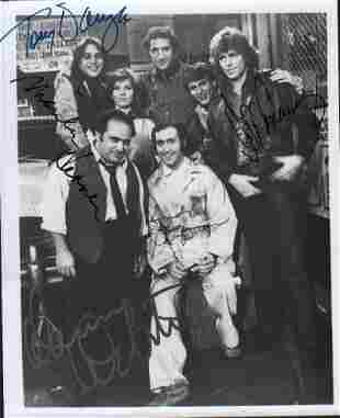 Taxi rare cast signed photograph