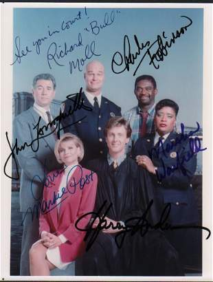 Night Court cast signed photograph